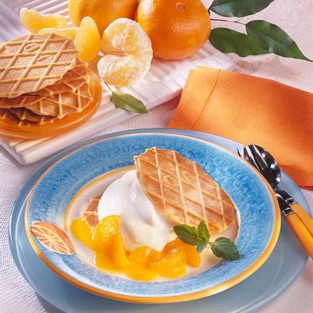 Waffel-Sandwich mit Mandarinen Rezept