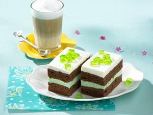 Waldmeister-Joghurt-Schnitten Rezept
