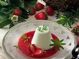 Waldmeisterflan mit Erdbeersoße Rezept