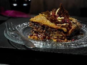 Walnuss-Cranberry-Lasagne mit Karamellsoße Rezept