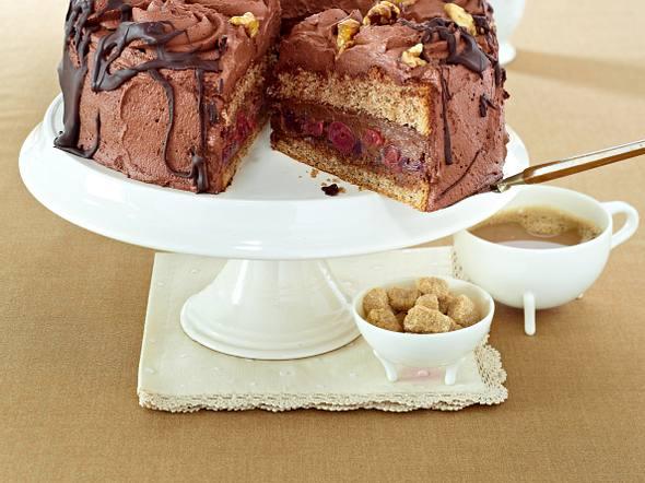 Walnuss-Kaffee-Schoko-Torte Rezept