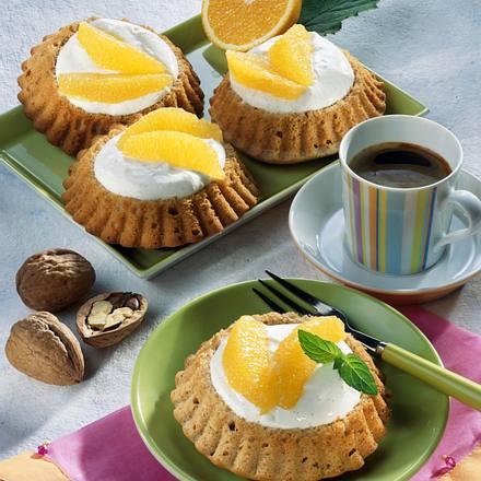 Walnuss-Orangen-Torteletts (Diabetiker) Rezept
