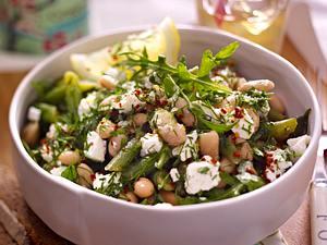 Warm Bean Salad mit Dill und Ziegenkäse Rezept