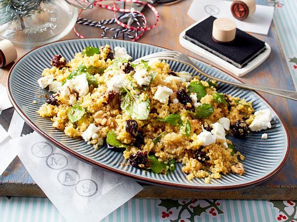 Warmer Couscous-Salat mit Ziegenkäse Rezept