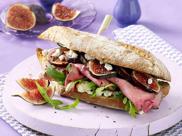 Warmes Roastbeef-Feigen-Sandwich Rezept