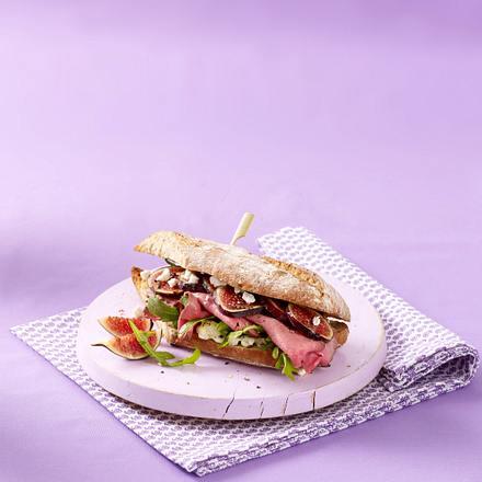 Warmes Roastbeef-Ziegenkäse-Sandwich Rezept