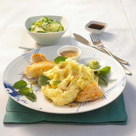 Wasabi-Püree zu Fischfilet Rezept