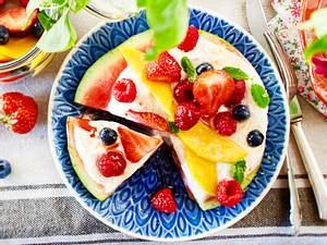 Wassermelone mit Zitronencreme & Obstsalat Rezept