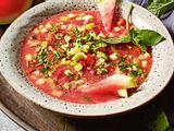 Wassermelonen-Gazpacho mit Sellerie Rezept