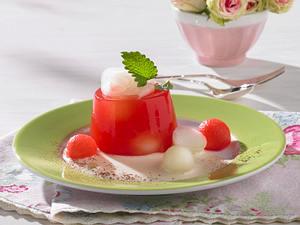 Wassermelonen-Gelee auf Sabaione (kalorienarm) Rezept