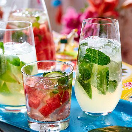 Wassermelonen-Rosé-Magarita und Mojito Rezept