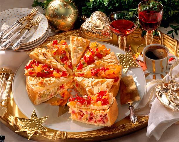 Weihnachtliche Käsetorte Rezept