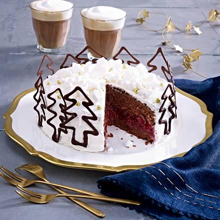 Weihnachtliche Kirsch-Torte Rezept
