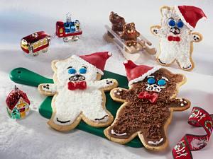 Weihnachtliche Teddy-Kekse Rezept