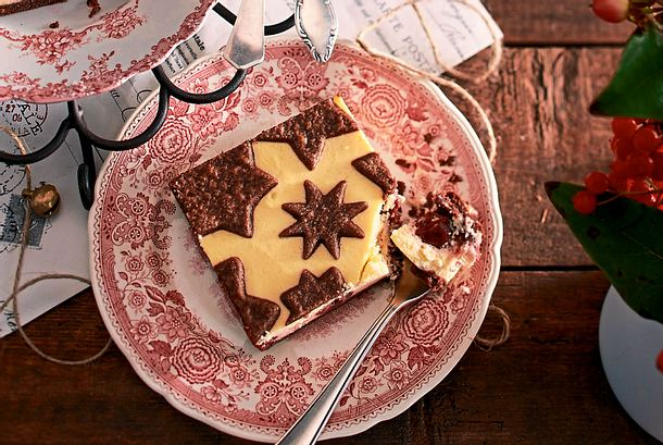 Weihnachtlicher Schokozupfkuchen Rezept
