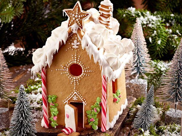 Weihnachtliches Lebkuchenhäuschen Rezept
