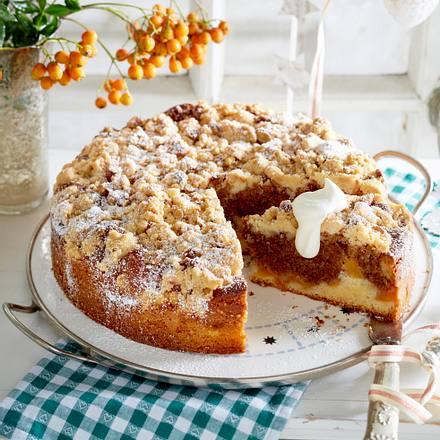 Weihnachts Marmorkuchen Mit Streuseln Und Gebrannten Mandeln Rezept