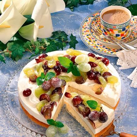 Weintrauben-Sahne-Torte Rezept