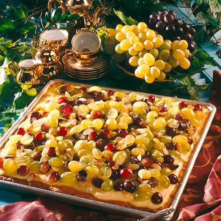 Weintraubenkuchen vom Blech Rezept