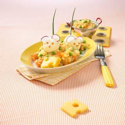 Weiße Mäuse im Kartoffel-Käse-Bett Rezept