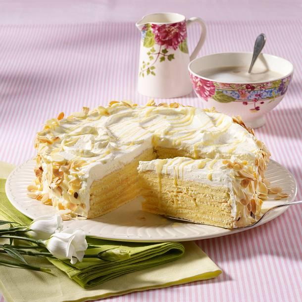 Weiße Schicht-Torte Rezept