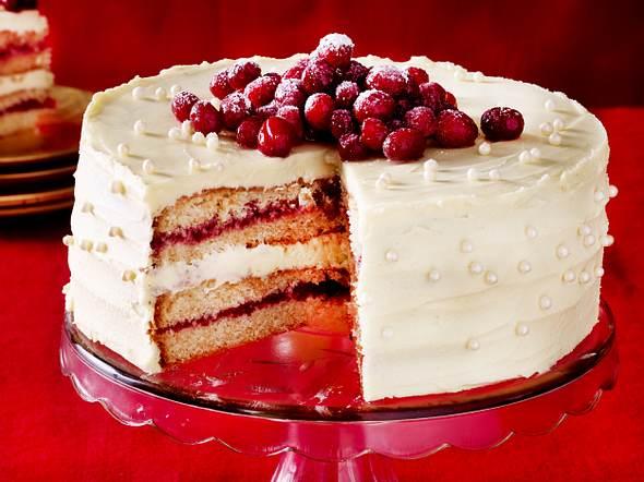 Weiße Schoko-Torte mit Cranberries Rezept