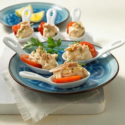 Weißes Bohnen-Püree mit Thunfisch Rezept