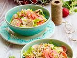Weißwurst-Käse-Salat mit eingelegten Radieschen Rezept
