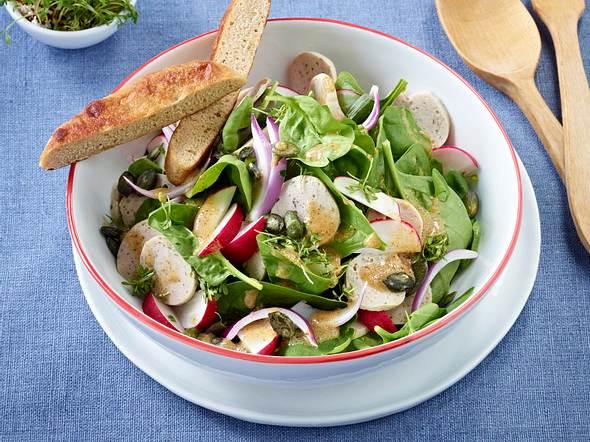 Weißwurst-Salat mit Schuxen Rezept