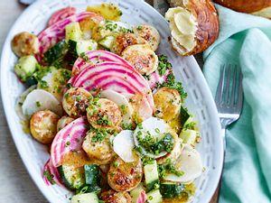 Weißwurstsalat mit Ringelbeten und süßer Senfvinaigrette Rezept