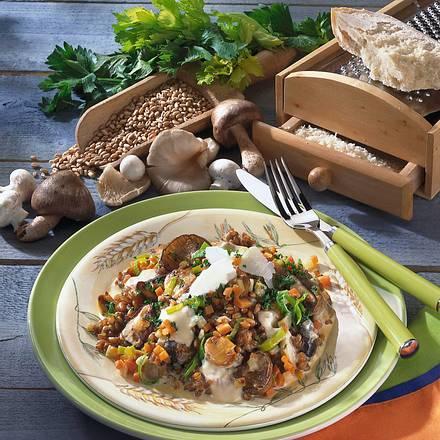 Weizen-Risotto mit Pilzen Rezept