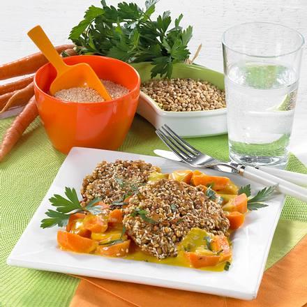 Weizenbratlinge zu Möhren-Curry-Soße Rezept