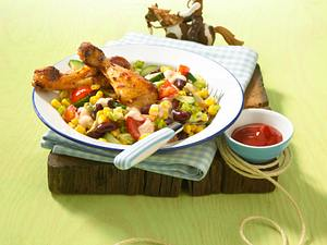 Western-Salat mit Buffalo-Keulen Rezept