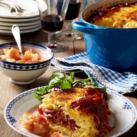 Westfälische Potthucke mit Apfel-Ingwer-Kompott Rezept