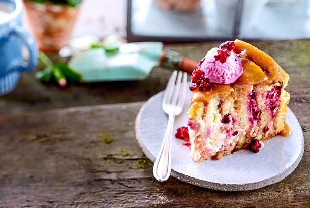 Wickelkuchen mit Cheesecake-Creme Rezept