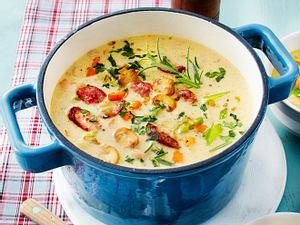 Wie-bei-Omi-Suppe mit Mettenden Rezept