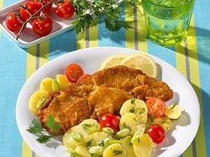 Wiener Schnitzel mit Kartoffelsalat Rezept