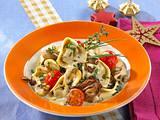 Wild-Tortelloni mit Pilzsahne-Soße Rezept