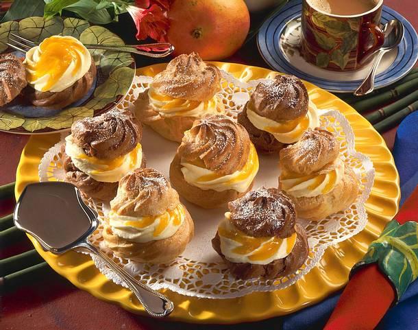 Windbeutel mit Pfirsich-Creme (Diabetiker) Rezept