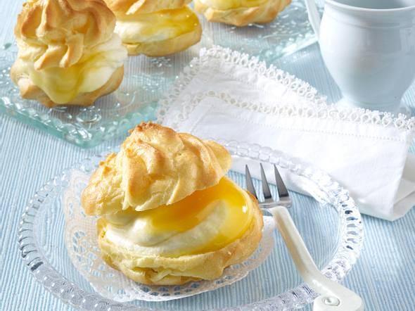 Windbeutel mit Zitronensahne Rezept