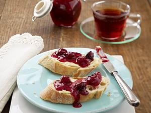 Winterliche Rooibos-Kirschkonfitüre (Kochen mit Tee) Rezept