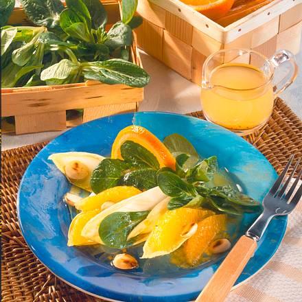 Winterlicher Blattsalat Rezept