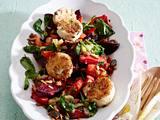 Winterlicher Salat mit paniertem Ziegenkäse Rezept