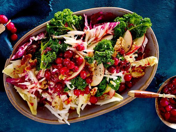 Wintersalat mit Cranberrydressing Rezept
