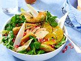 Wintersalat mit gebratenen Avocado-Spalten Rezept