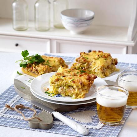Wirsing-Mett-Kuchen mit Kloßboden Rezept