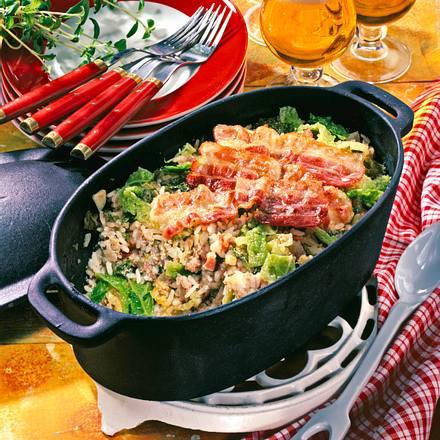Wirsing-Reis-Topf mit Mett Rezept