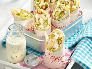 Wraps mit Caesar Salad Rezept