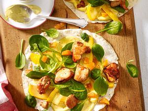 Wraps mit Hähnchen und Aprikose Rezept