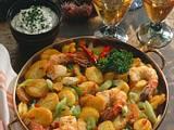 Würzige Bratkartoffeln mit Scampi Rezept
